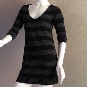 Express Striped Mini Sweater Dress